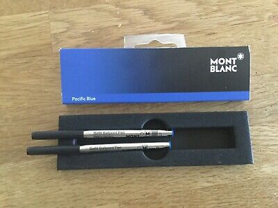Mont Blanc Ballpoint pen refills 2 No. Medium. Pacific Blue