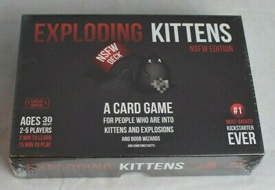 Exploding Kittens Black Cards Party Board Game NSFW Edition NEW 2-5 Players