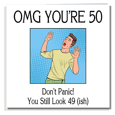 BIRTHDAY CARD Funny 50th Friend Husband Brother Uncle Dad Grandad For Men A320