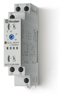 FINDER Multi-functionI Modular timer - 24...240VAC (50/60 Hz)DC 8A 1pole