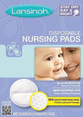 240 Pieces Lansinoh Disposable Nursing Pads Breast Baby Food Milk Discreet 4x60