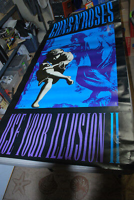 "Guns and Roses  ""Use Your Illusion II"" 1991 promotional poster"