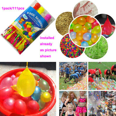 10 Packs-1110 pcs Magic Water Balloons Bombs Kids Garden Party Toys for Summer