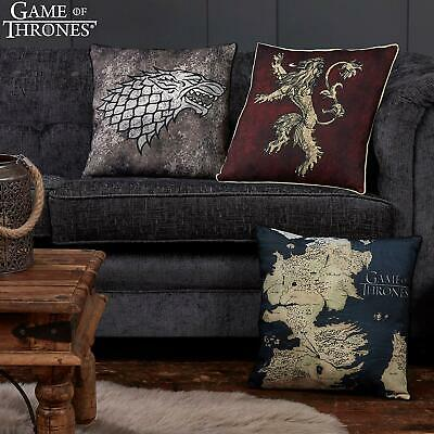 Game of Thrones Printed Canvas Cushion Westeros Map House Lannister House Stark