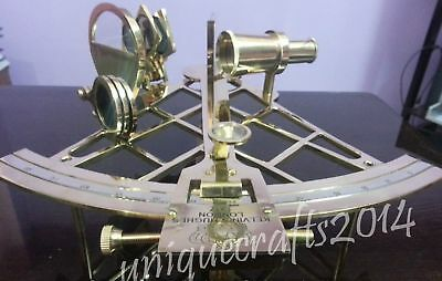 Vintage Heavy Brass Nautical Sextant Marine Ship Gift Handmade Item...