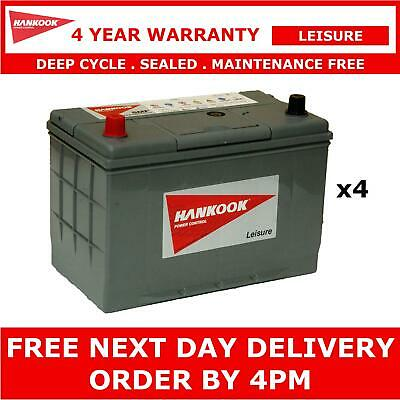 4x Hankook XL31S Leisure Batteries 12V 130AH