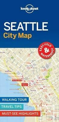 NEW Seattle City Map By Lonely Planet Folded Sheet Map Free Shipping