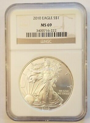2010 Silver American Eagle NGC MS69