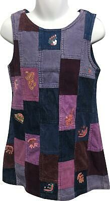 PRE-OWNED Girls Next Blue Patch Pattern Dress Size 5 Yrs