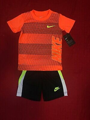58eeaada4 NIKE DRI- FIT Toddler Boy 2 Pc Set Short Sleeve T- Shirt & Shorts Sz ...