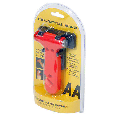 AA Emergency Hammer - Smashes Glass With Seat Belt Cutter