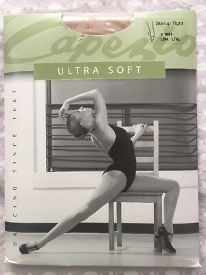 8b22253151c62 CAPEZIO ULTRA SOFT Stirrup Tights for Girls New Style 1861C, Size 8 ...