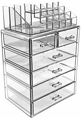 Sorbus Acrylic Cosmetic Makeup and Jewelry Storage Case Display-Spacious Design-