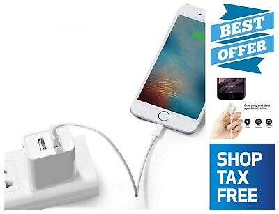 Lightning to USB A 1 Foot Cable Fast Charging & Sync Charger Apple iPhone 7 8 X