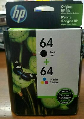 HP 64 Black and Tri-color Ink Cartridges Combo Twin Pack