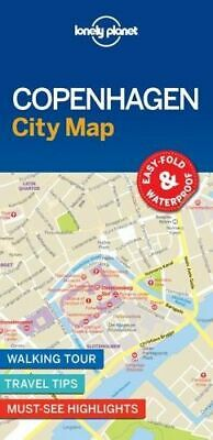 NEW Copenhagen City Map By Lonely Planet Travel Guide Folded Sheet Map