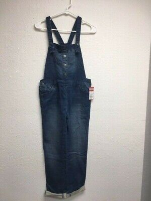 Cat & Jack Overalls Childs Size L Large (10-12)  Blue Denim Brand New With Tags