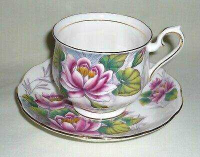 Vintage Royal Albert Flower of the Month 'Water Lily' Cup & Saucer  ~ Month 7