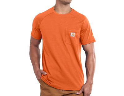 335fed08 Carhartt Men's Force Cotton Short Sleeve T-Shirt Relaxed Fit- Orange - L