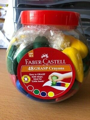 Faber - Castell Grasp Crayons 48 BULK Class Pack with Storage Tub BRAND NEW