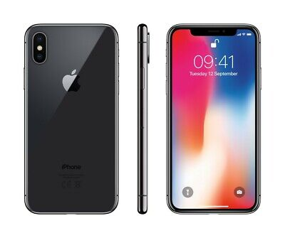 Apple iPhone X 64GB Factory Unlocked - Space Gray Smartphone A1865 64 GB 10 LTE