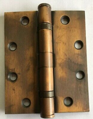 "Vintage 5"" Heavy Duty SOSS Door Hinges NOS"
