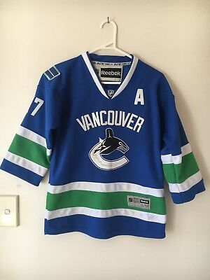 🍁Reebok Ryan Kesler 17 Vancouver Canucks NHL Approved  Ice Hockey Jersey Sz S M