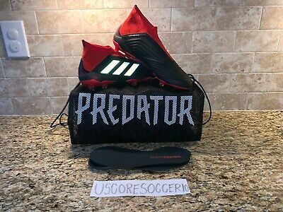 92bbfef88afa SZ 13 ADIDAS Predator 18+ FG Soccer Cleats Core Black White Gold Men ...