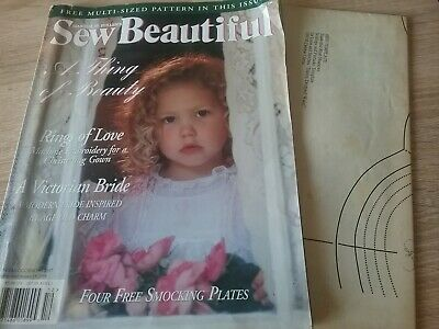 Sew Beautiful Sewing Magazine with ,lift out pattern
