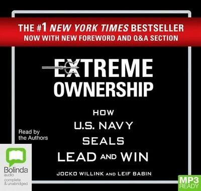 NEW Extreme Ownership By Jocko Willink CD in MP3 Format Free Shipping