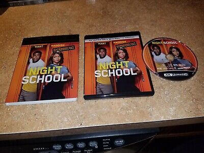 Night School Extended Cut 4K Ultra Hd Blu Ray + Slipcover Sleeve, Excellent Cond