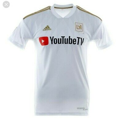 purchase cheap 3c370 a7318 LAFC AWAY JERSEY. Inaugural Season. White And Gold. Size L