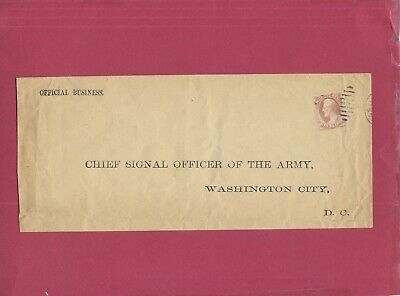 U.S. War Dept.stamp Scott 080 on official Army Business cover to Chief Signal