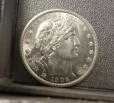 TERRIFIC! Antique 1906 US BARBER Silver Half Dollar 50c New England Estate Find!