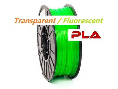 Transparent PLA Filament 3D Printing 1.75mm 1KG 1000g Various Flouro