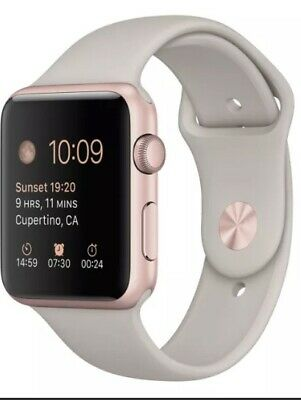 Apple Watch Sport 42mm Rose Gold Aluminum Case A1554 *Very Good* (86-9)