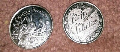 Set of 2 Holiday .999 Silver Troy Oz $1 Collectible Coins