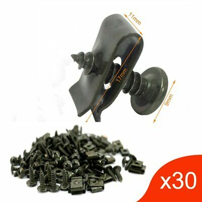 30x Motorcycle Plastic Body Self-tapping Screw and Clips M4 M5 for Scooter Moped