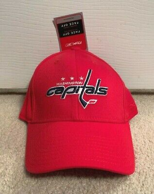 dffa85ed0dd Washington Capitals Reebok Flex Fit Fitted Hat Nhl Face Off Vintage Hockey  Cap +
