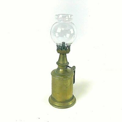 Vintage French Brass Oil Alcohol Lamp, Lampe Pigeon