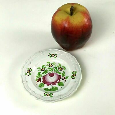 Circa 1820's English Porcelain Butter Pat Dish Miniature Plate