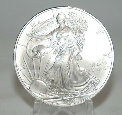 Lot Of Two  2009 1 oz AMERICAN SILVER EAGLE BRILLIANT UNCIRCULATED