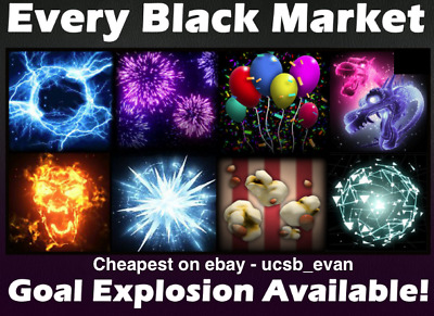 (PS4) Rocket League ALL BLACK MARKET GOAL EXPLOSIONS - CHEAPEST *TRUSTED SELLER*