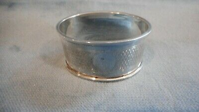 Antique Sterling Silver Hallmarked English Napkin Ring   S3396