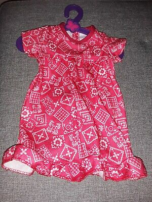Doll Clothes fits 18inch American Girl Dress Red Pajamas Sleep gown