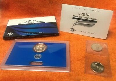 2018 American Innovation $1 Proof Coin & P & D Uncirculated  3 COINS