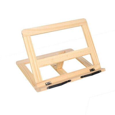 Foldable Reading Stand Adjustable Angle Wooden Frame Cook Home Book Holder