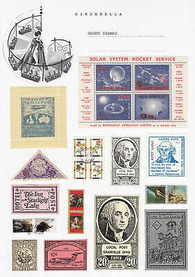 Worldwide - BOGUS STAMPS (cinderella collection)