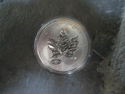 $5 Canadian Silver Maple Leaf 1908-1998 Double Date RCM Anniversary Privy mark