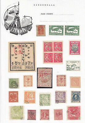 Worldwide - FAKE STAMPS / LABELS (cinderella collection)